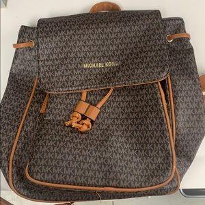 Michael Kors Brown Cargo Backpack